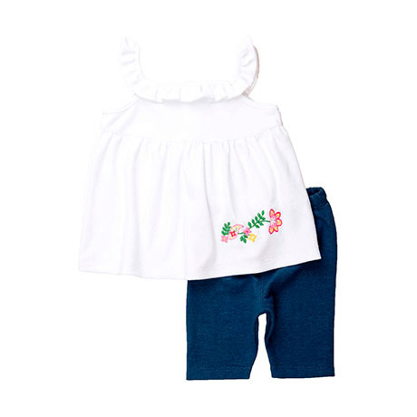 Torio Denim Pretty Flower Legging Set